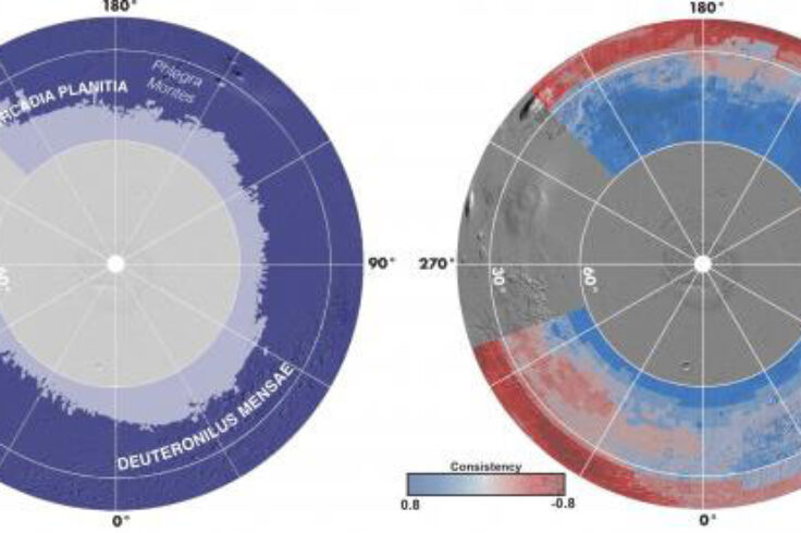 Mars water map