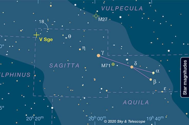 V Sagittae Finder Chart
