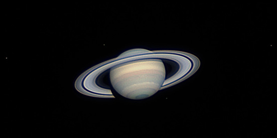 Saturn and moons on Jan. 26, 2013