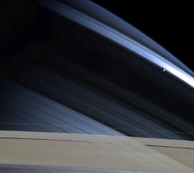 Shadows on Saturn