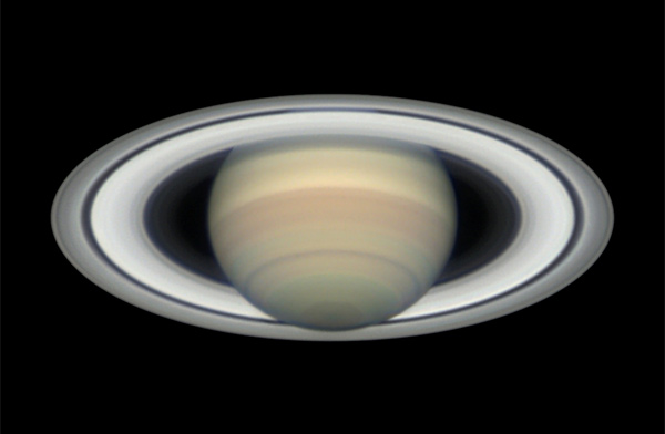 Saturn at opposition showing the Seeliger effect, June 5, 2016