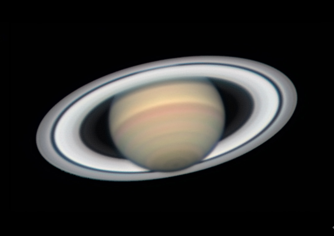 Saturn at opposition with Seeliger Effect, June 27, 2018