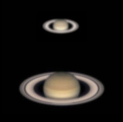 Viewing Saturn in a telescope