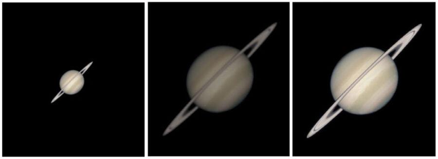 View through different telescopes