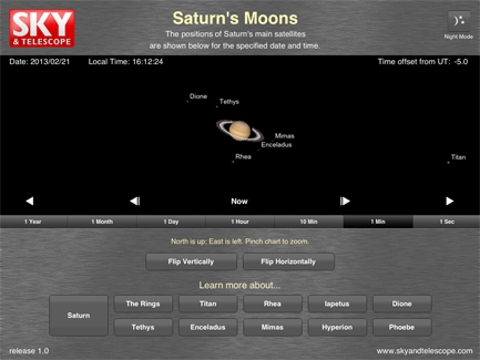 SaturnMoons main screen