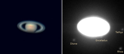 Saturn With and Without Moons