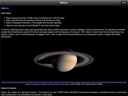 SaturnMoons encyclopedia