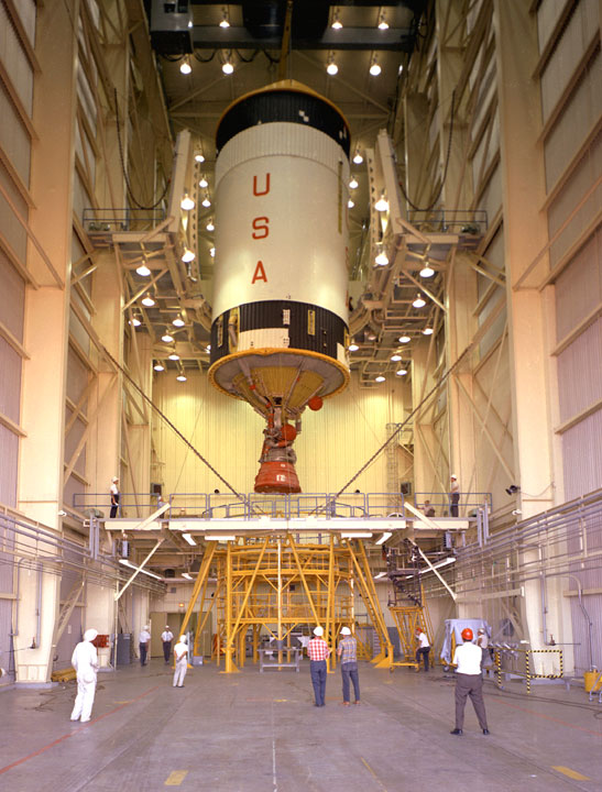 Saturn S-IVB stage booster