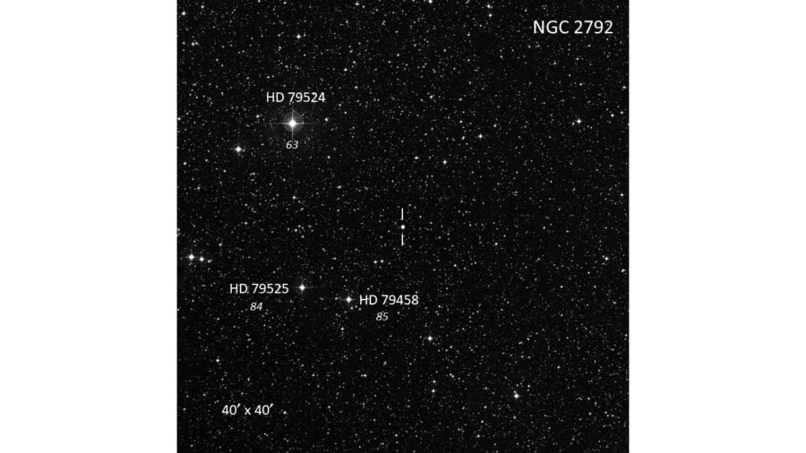 Finder for NGC 2792