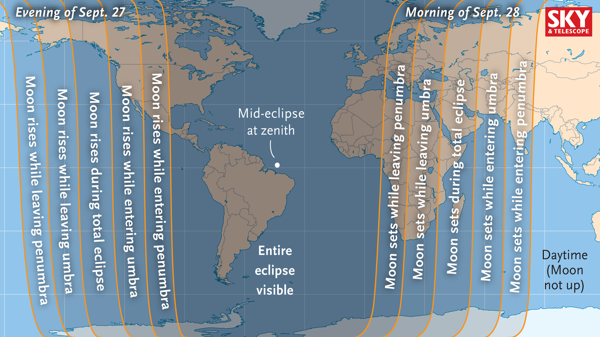 Who will see this month's total lunar eclipse?