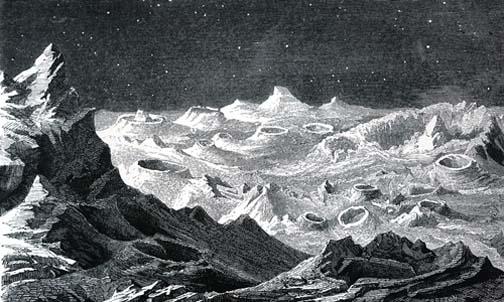An older conception of the lunar landscape