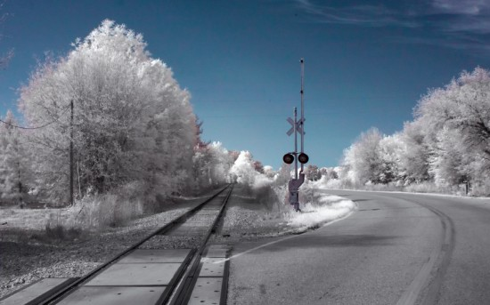 Imaging Earth with infrared filter