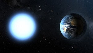 white dwarf and Earth size comparison