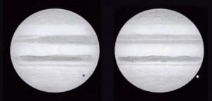 Drawings of Jupiter as it rotates