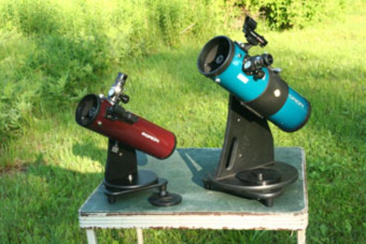 Burgundy Orion 10012 SkyScanner 100mm TableTop Reflector Telescope