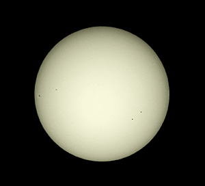 Sun with Mercury and Sunspots