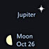 Jupiter and the Moon in October