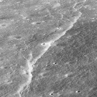 Slipher crater scarp