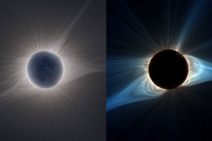 Comparison of observed and simulated solar corona