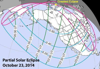Where to see October 23rd's partial solar eclipse