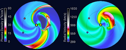 Solar-wind prediction for Jan. 9, 2014