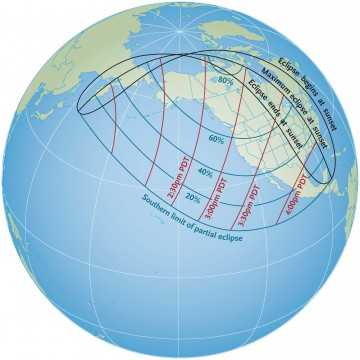 Visibility of October 23, 2014, solar eclipse