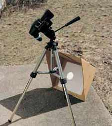 Small telescopes are especially suited to the solar-projection method.