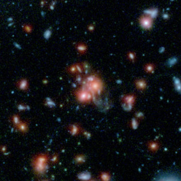 SpARCS galaxy cluster bursting with stars