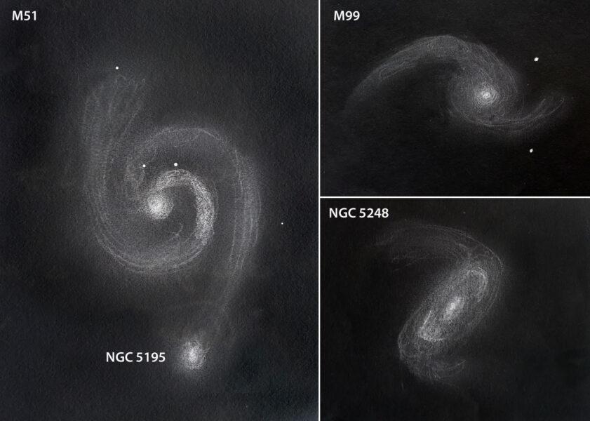 Galaxy sketches