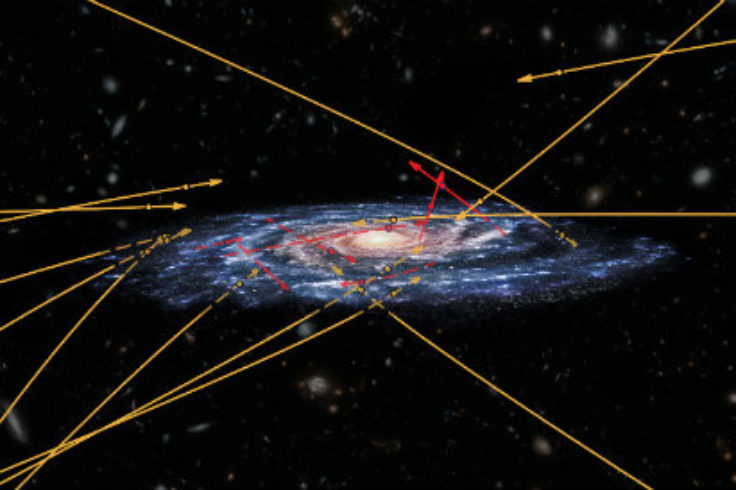 Illustration of stars sprinting through our Galaxy