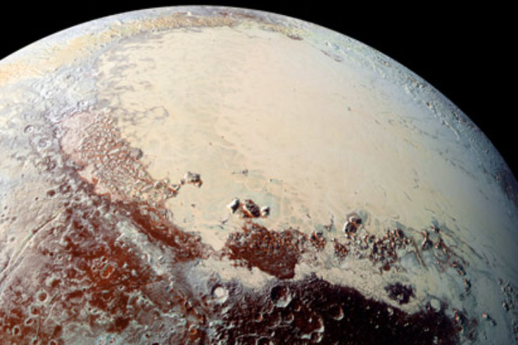 Pluto's Sputnik Planum in color