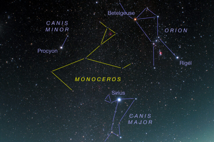 Star chart for Monoceros