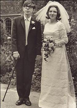 Stephen Hawking wedding photo