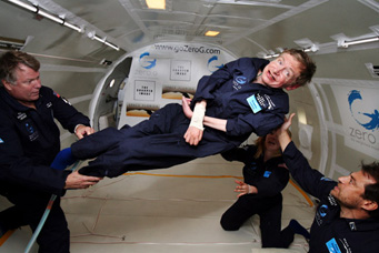 Stephen Hawking weightless