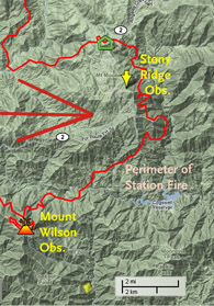 Stony Ridge fire map