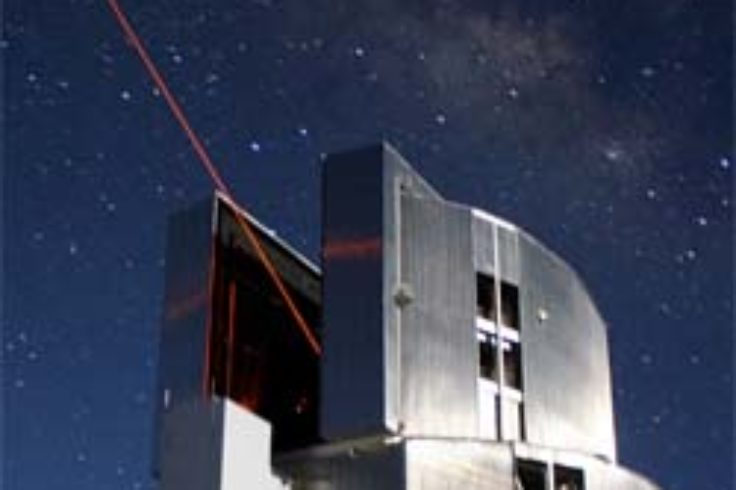 Laser beam from Subaru Telescope