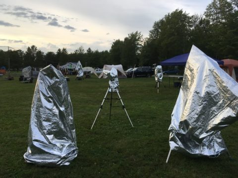 Covered Telescopes at Summer Star Party