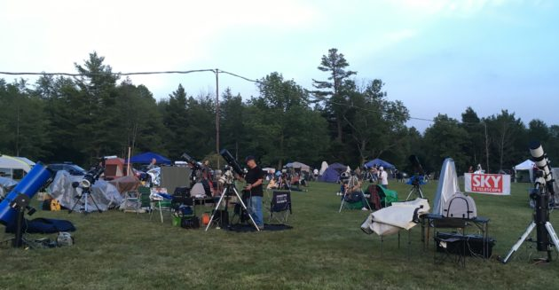 Waiting for clear skies at Summer Star Party