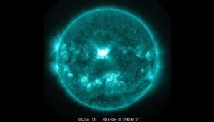Solar flare on September 14, 2014