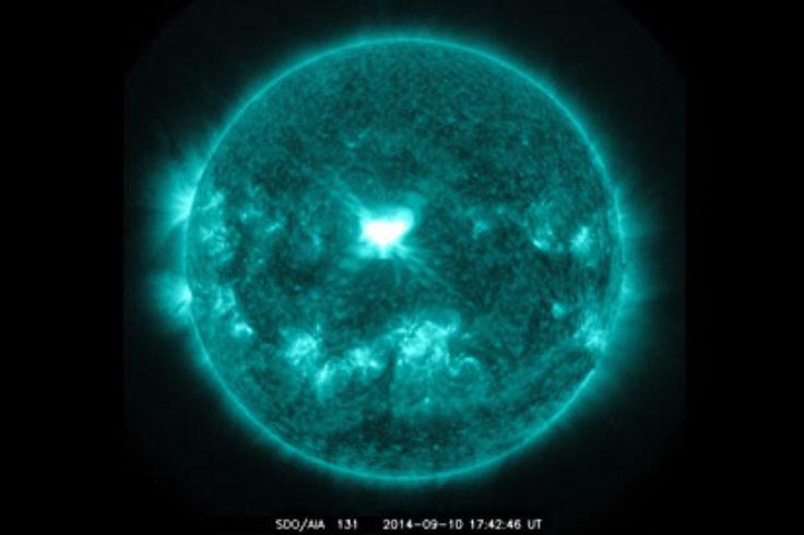 Solar flare on Septmeber 14, 2014