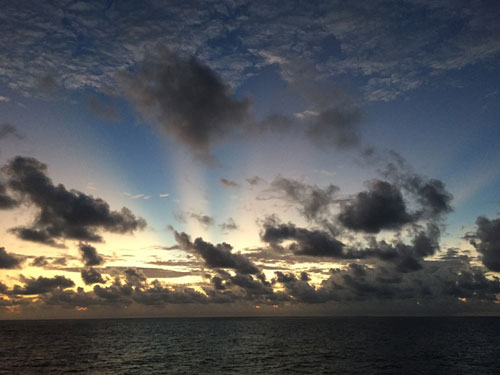 Sunrise on March 9th