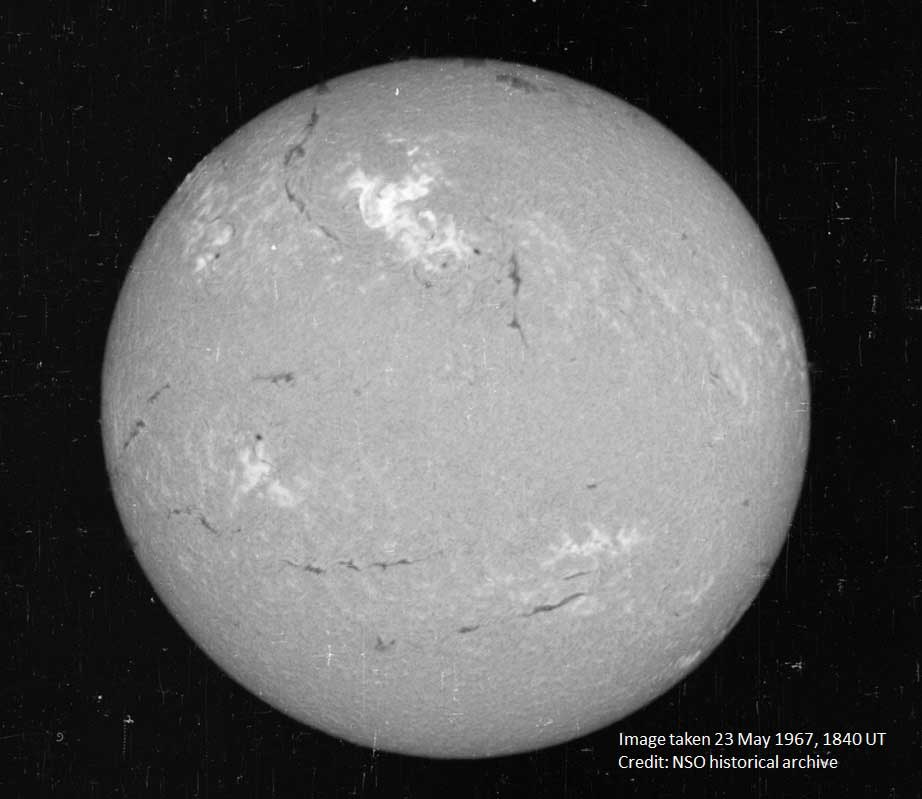 The Sun during May 1967 solar flare