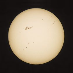 Sun during sunspot maximum