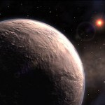 5-Earth-mass planet; artist's concept