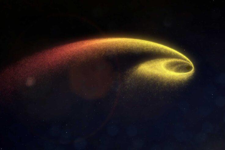 black hole shredding star
