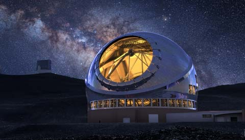 Thirty Meter Telescope at night