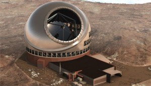 Aerial view of Thirty Meter Telescope