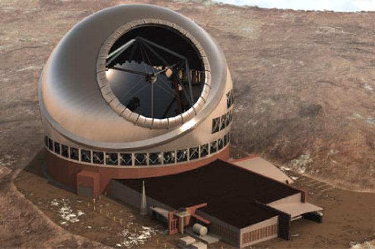Aerial view of Thirty Meter Telescope