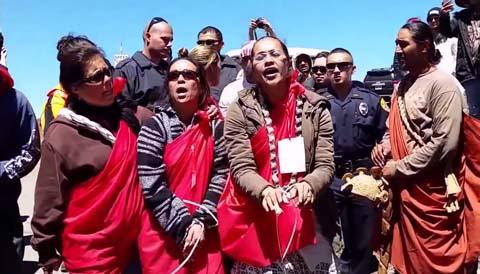 TMT protest on April 2, 2015