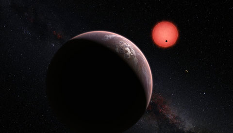 TRAPPIST-1 planet system artist's illustration